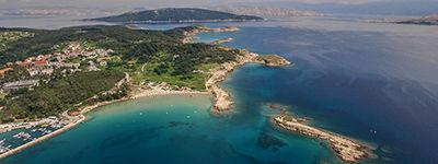 La plage du Paradis sur l'île de Rab