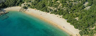 La plage de Lubenice sur l'île de Cres