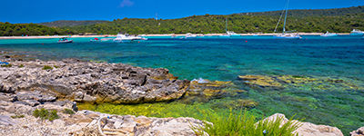 La plage de Sakarun sur l'île de Dugi Otok