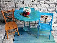 Petite table en Croatie