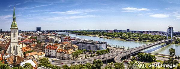 Le Danube à Bratislava