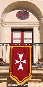 Drapeau typique à Malte