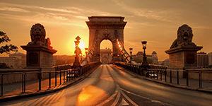 Magnifique pont à Budapest