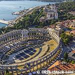 Amphithéatre de Pula en Croatie