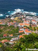 Vue aérienne de Porto Moniz