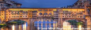 Ponte Vecchio Florence de nuit - Voyage en Italie