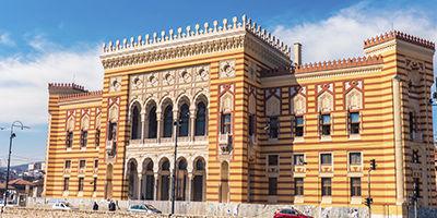 Vue de Sarajevo en Bosnie
