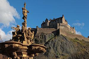 Le Château d'Édimbourg, en Écosse
