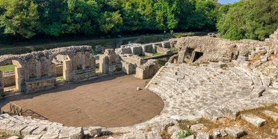 L'amphithéâtre romain à Durrës