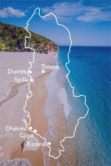 Carte Albanie