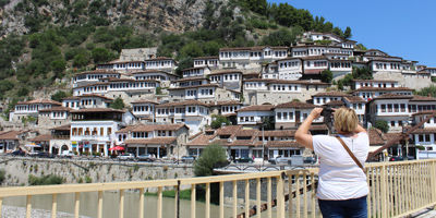Vue de la ville de Berat