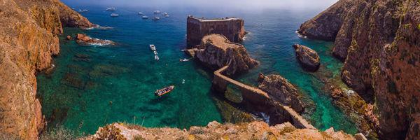 Fort de l'île de Berlanga au Portugal