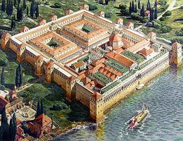 Le palais de Dioclésien avant