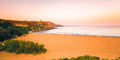 La plage de Ramla Bay