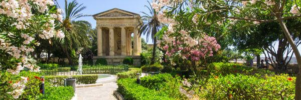Les jardins d'Upper Barraka de La Valette