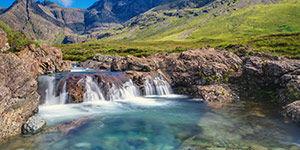 Les fairy pools en Écosse