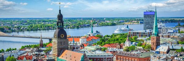 Vue aérienne de Riga
