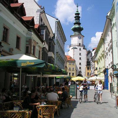 La porte Saint-Michel à Bratislava