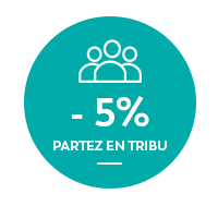 -5% - partez en tribu