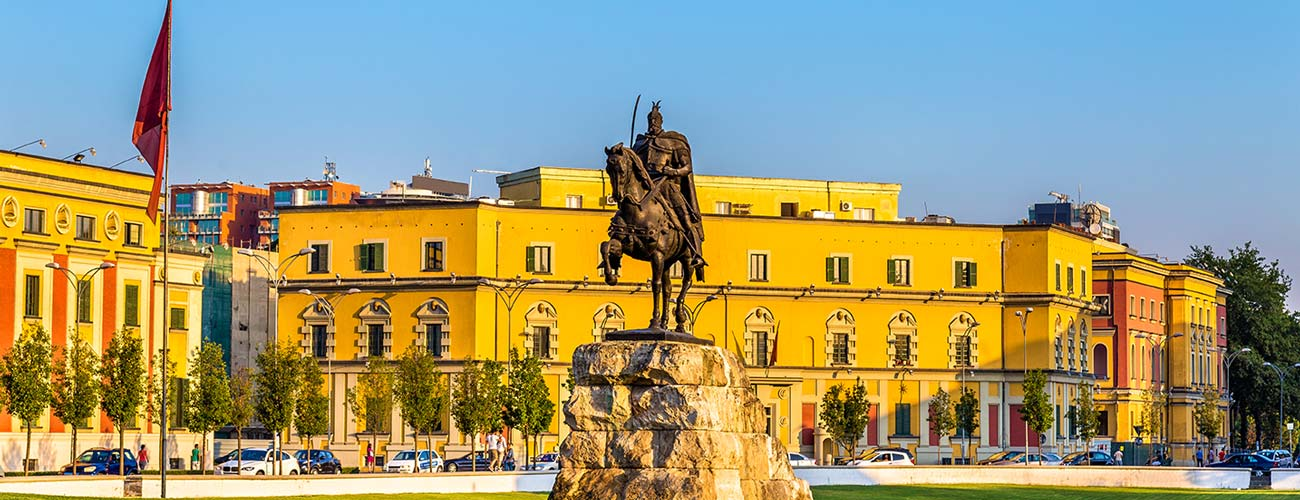 Tirana, capitale de l'Albanie