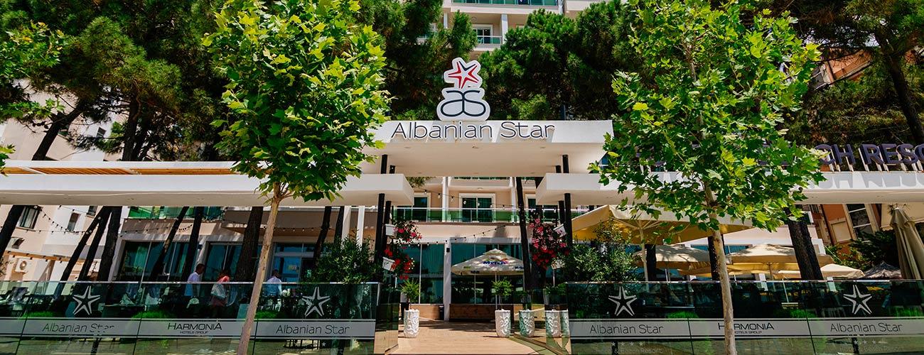 Façade de l'hôtel Albanian Star 4*