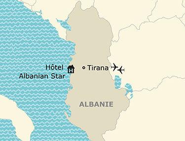 Situation de l'hôtel Albanian Star 4*