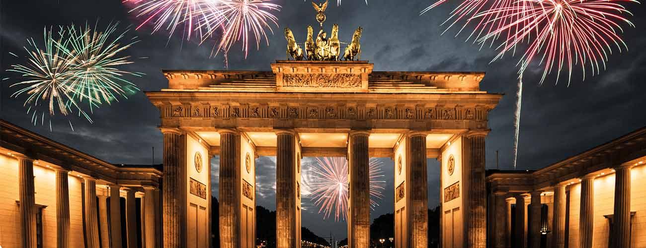 Feux d'artifice à Berlin
