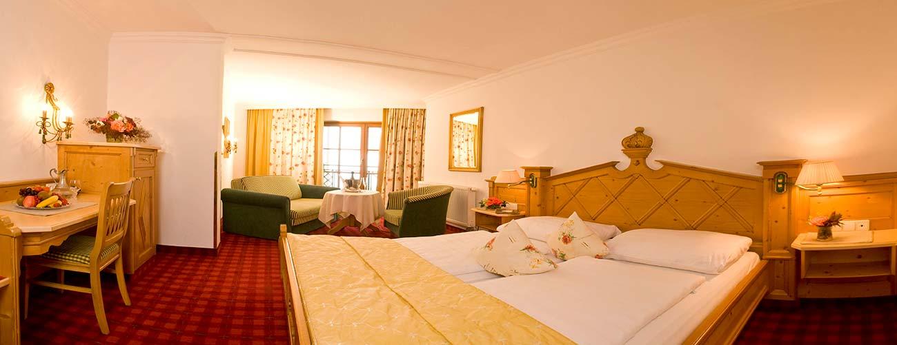 Chambre de l'hôtel Schwarzbrunn, au Tyrol
