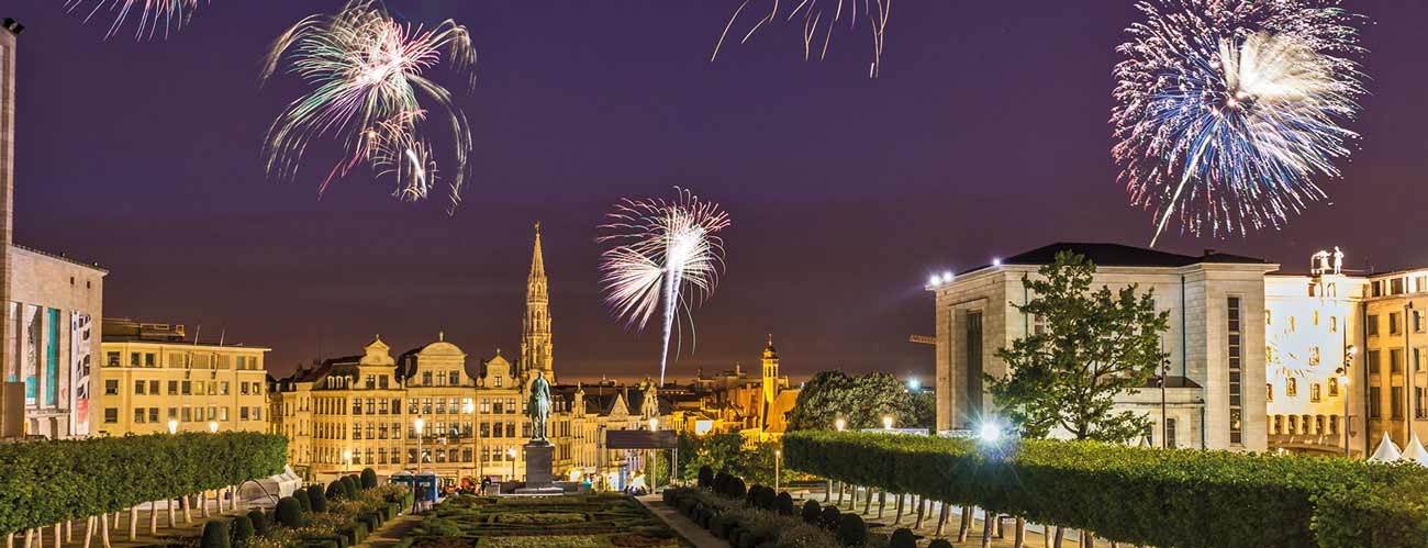 Feux d'artifices à Bruxelles
