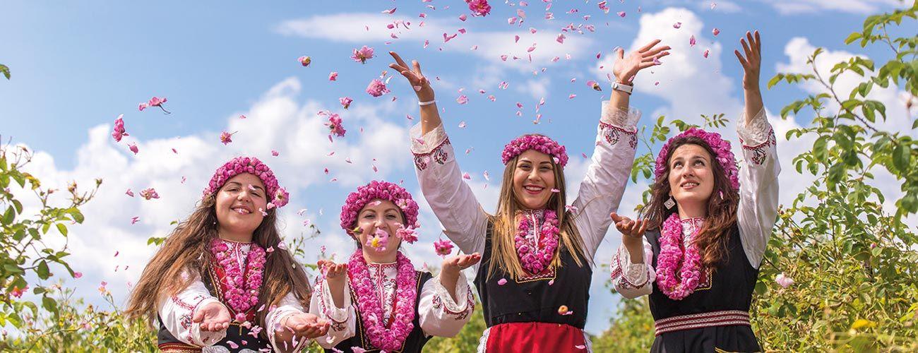 Vallée des roses en Bulgarie