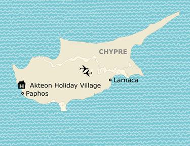Situation de l'hôtel Akteon Holiday Village