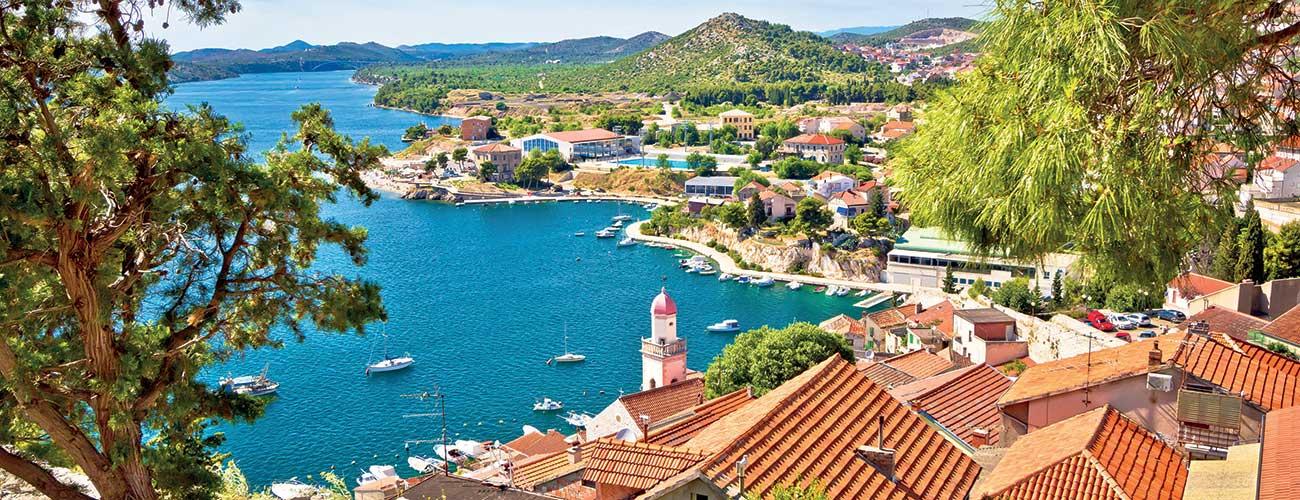 La ville de Sibenik en Croatie