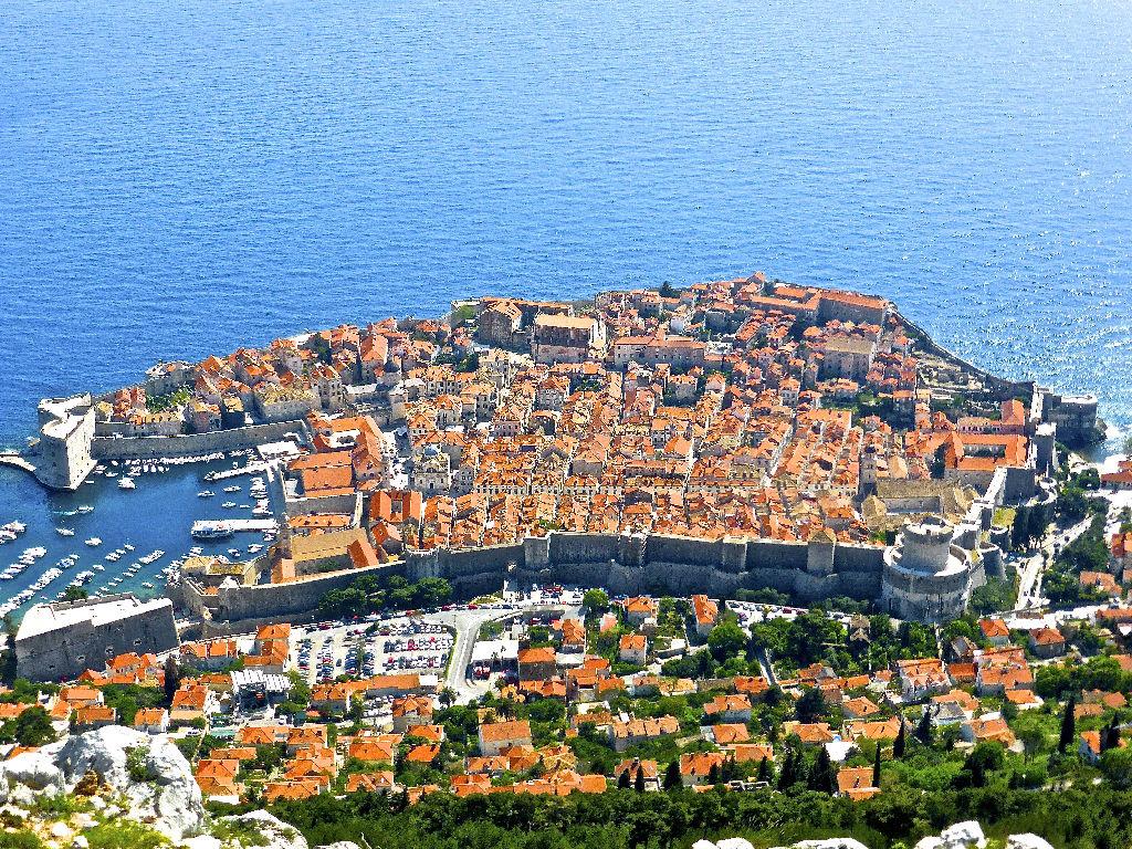 Vue du ciel de Dubrovnik
