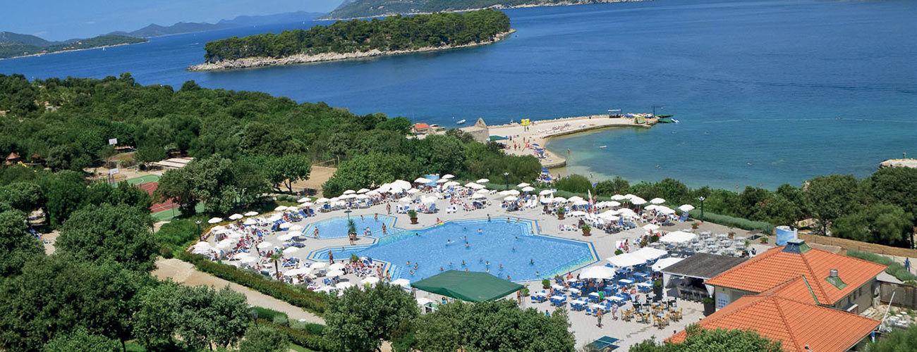 Vue panoramique de l'hôtel Valamar Club