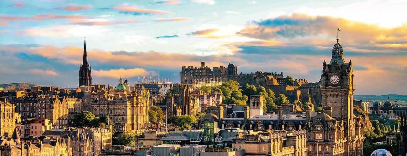 Vue d'Édimbourg, en Écosse