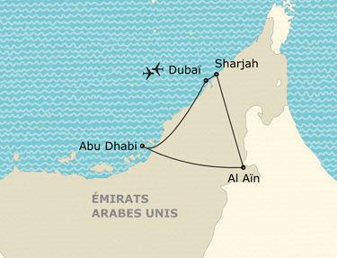 L'itinéraire de votre circuit aux Émirats Arabes Unis