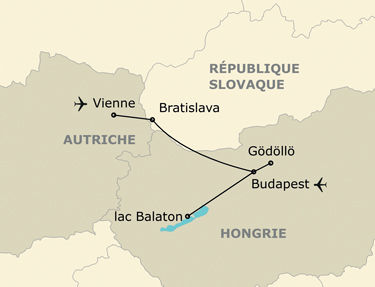 L'itinéraire de votre voyage en Europe centrale