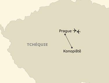 L'itinéraire du circuit Découverte en étoile à Prague
