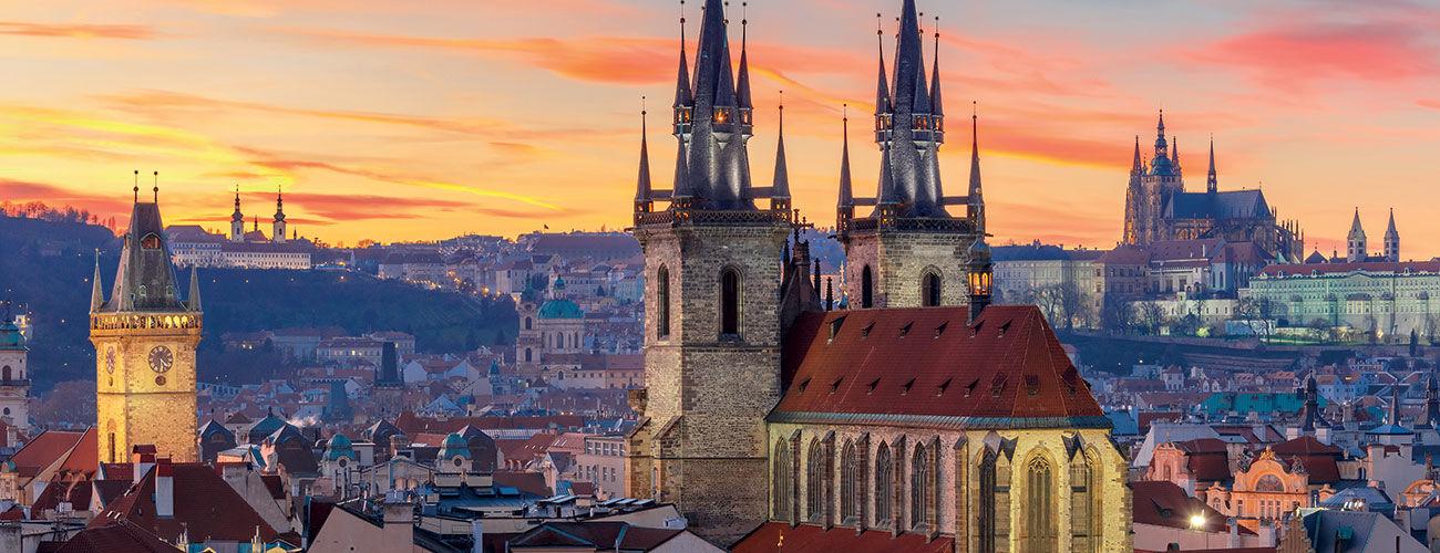 Vue des toits de Prague