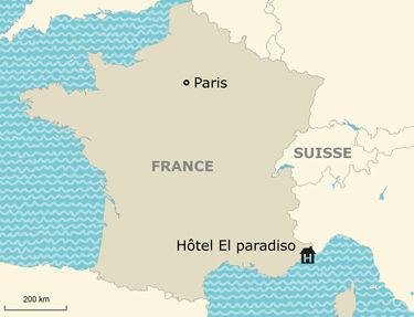 Situation de l'hôtel El Paradiso 3*
