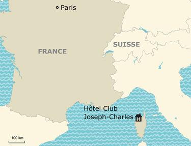 Situation de l'hôtel-club Joseph-Charles 3*