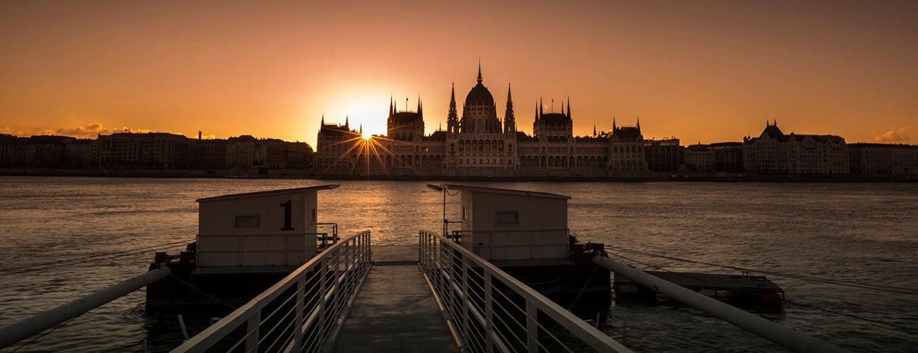 Coucher de soleil à Budapest