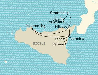 L'itinéraire de votre circuit en Sicile