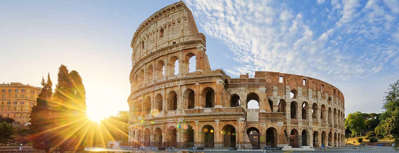 Le splendide Colisée à Rome