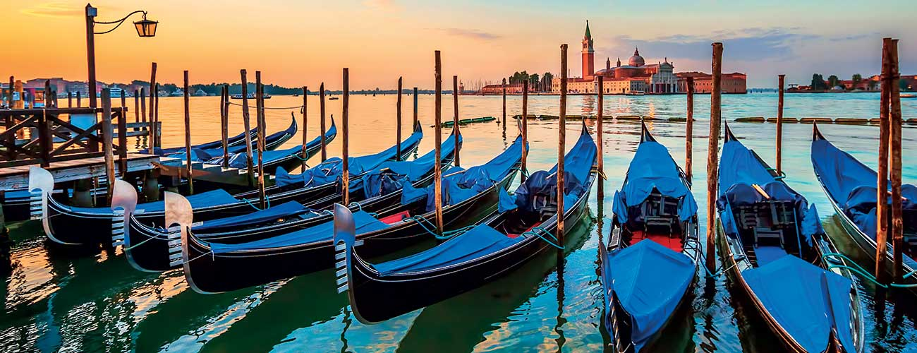 Gondoles à Venise