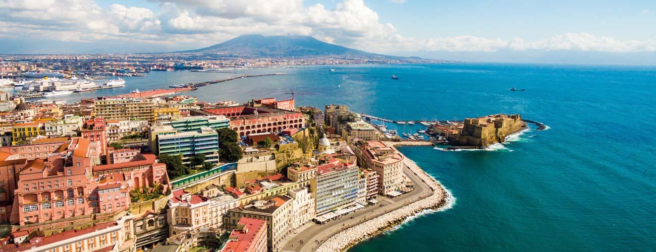 Vue sur la baie Naples