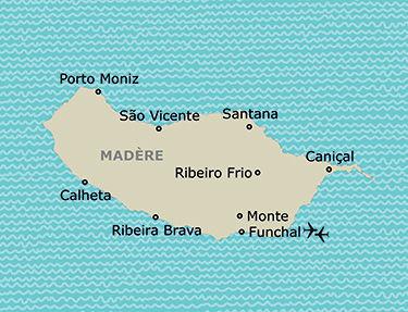 L'itinéraire du circuit Etoile de Madère