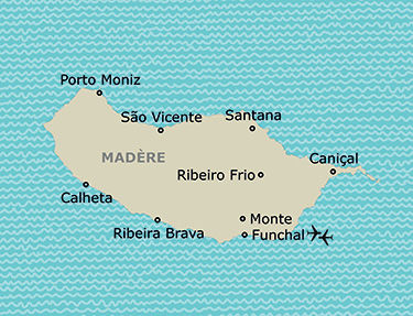 Carte de votre itinéraire à Madère
