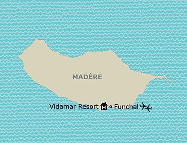Situation de l'hôtel Vidamar Resort