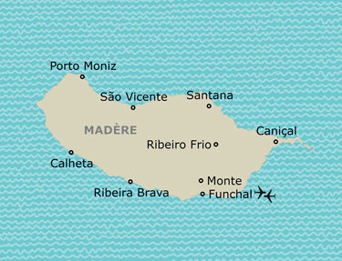 Votre itinéraire à Madère